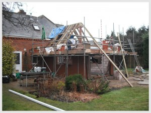 single storey extension in progress - Basildon